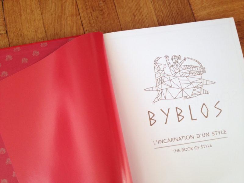 Le livre anniversaire de l'hôtel Byblos